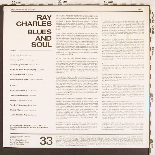 Charles,Ray: Soul + Blues (like new), S*R(79 257), D,  - LP - X3096 - 15,00 Euro