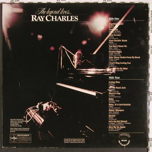 Charles,Ray: The Legend Lives,Foc, Arcade(ADEG 139), D,  - LP - X3557 - 5,00 Euro