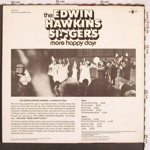 Hawkins Singers,Edwin: More Happy Days, vg+/m-, Buddah(2318 012), D, 1970 - LP - X3740 - 5,50 Euro