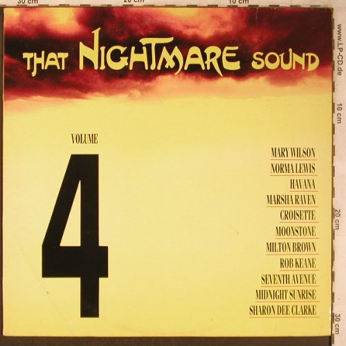 V.A.That Nightmare Sound Vol.4: Mary Wilson...Rob Keane, Nightmare(MARELP 4), UK, 1988 - LP - X5062 - 5,00 Euro