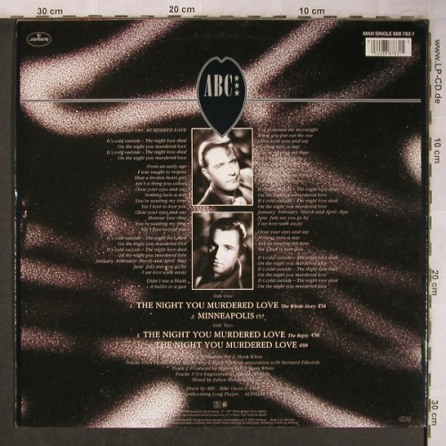 ABC: The Night You Murdered Love*3+1, Mercury(888 783-1), D, 1987 - 12inch - X5122 - 4,00 Euro