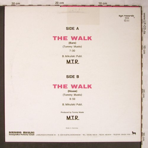 M.T.R.: The Walk*2, ZYX(5636), D, 1987 - 12inch - X5240 - 3,00 Euro