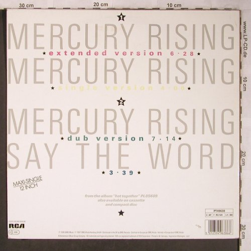 Pointer Sisters: Mercury Rising*3+1, RCA(PT 49638), D, 1986 - 12inch - X5246 - 3,00 Euro