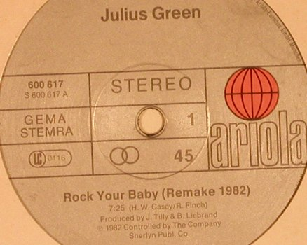 Green,Julius: Rock Your Baby, FLC, vg+/m-, Ariola(600 617), D, 1982 - 12inch - X5484 - 4,00 Euro
