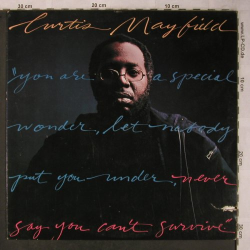 Mayfield,Curtis: Never Say You Can't Survive, Curtom(CU 5013), US, CO, 1977 - LP - X5587 - 12,50 Euro