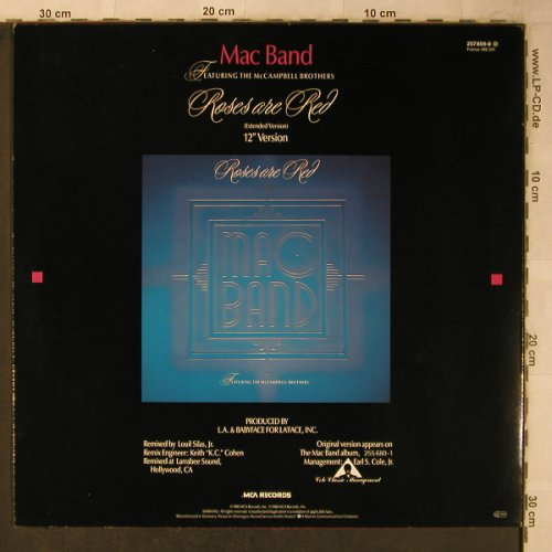 Mac Band: Roses are Red, MCA(257 859-0), D, 1988 - 12inch - X5631 - 4,00 Euro