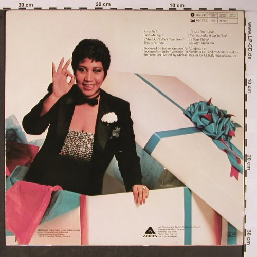 Franklin,Aretha: Jump To It, Arista(204 742-320), D, 1982 - LP - X6006 - 6,00 Euro