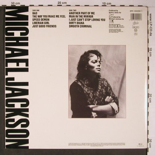 Jackson,Michael: Bad, Foc, Epic(EPC 450290 1), NL, 1987 - LP - X6284 - 9,00 Euro
