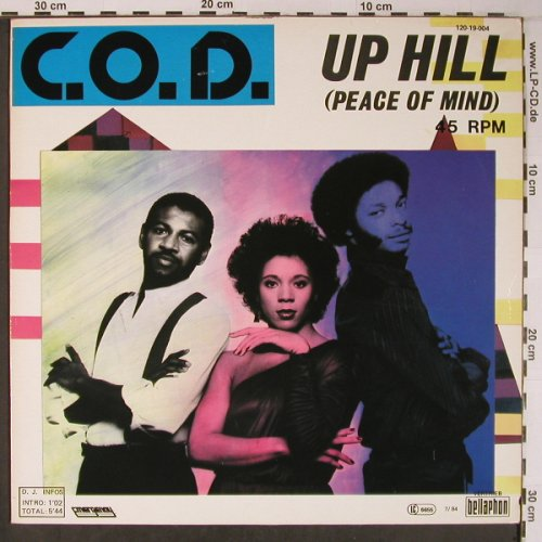 C.O.D.: Up Hill(peace of mind), Bellaphon(120 19 004), D, 1984 - 12inch - X6357 - 7,50 Euro