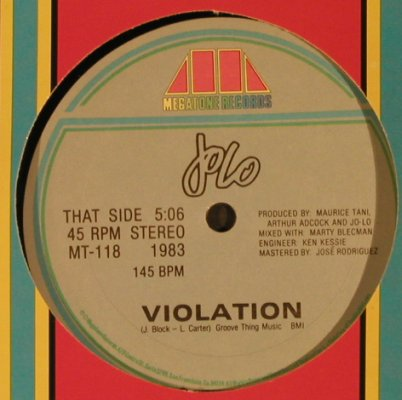 Jolo: Violation / On Hold,Hülle ~~~, Megatone Records(MT-118), D, 1983 - 12inch - X6398 - 4,00 Euro