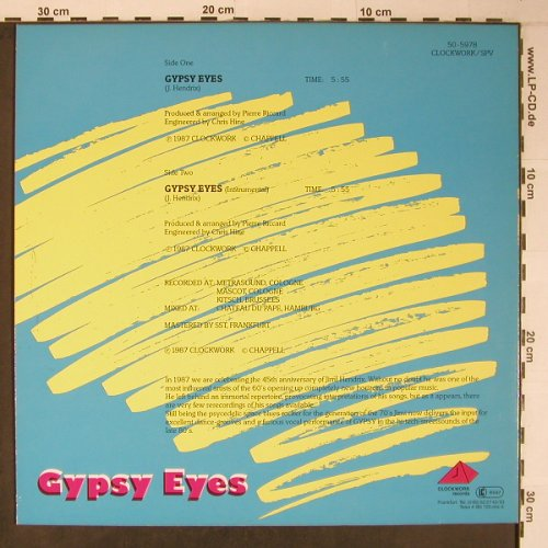 Gypsy: Gypsy Eyes*2, Clockwork Records(50-5978), D, 1987 - 12inch - X6449 - 7,00 Euro