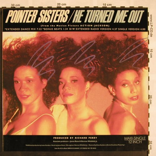 Pointer Sisters: He Turned me out*4,ext.danceMx, RCA(PT 49578), D, 1988 - 12inch - X850 - 3,00 Euro