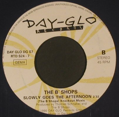 B'Shops: And I ride, m-/vg+, LC, Day-Glo(DG S7/RTD S24-7), D, 1990 - 7inch - S8003 - 2,00 Euro