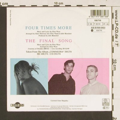 Waut,Elisa: Four Times More, Ariola(108 716), D, 1986 - 7inch - S9468 - 2,50 Euro