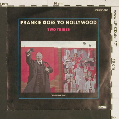 Frankie Goes To Hollywood: Two Tribes / One February Friday..., Ariola(106 495-100), D, 1984 - 7inch - S9469 - 2,50 Euro