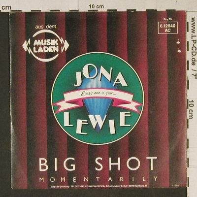 Lewie,Jona: Big Shot / I Get By In Pittsburgh, Stiff, Buy 85(6.12840 AC), D, m-/vg+, 1980 - 7inch - T1071 - 2,50 Euro