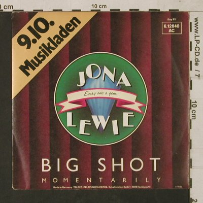 Lewie,Jona: Big Shot / I Get By In Pittsburgh, Stiff, Buy 85(6.12840 AC), D,InfoFact, 1980 - 7inch - T1542 - 3,00 Euro