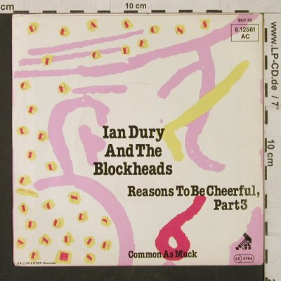 Dury & Blockheads,Ian: Reasons to be Cheerful,Part 3, Stiff-BUY 50(6.12561 AC), D, m /vg+, 1979 - 7inch - T1561 - 3,00 Euro