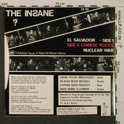 Insane: El Salvador/Chinese Rocks/NuclearWa, No Future(Oi 10), UK, 1982 - EP - T1767 - 20,00 Euro