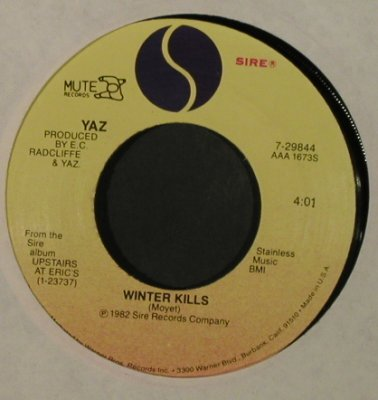 Yazoo (in USA: Yaz): Only You/Winter Kills, LC, Sire(7-29844), US, 1982 - 7inch - T2151 - 3,00 Euro