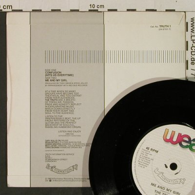 Truth: Confusion / Me And My Girl, WEA(TRUTH 1), UK, 1983 - 7inch - T2316 - 2,50 Euro
