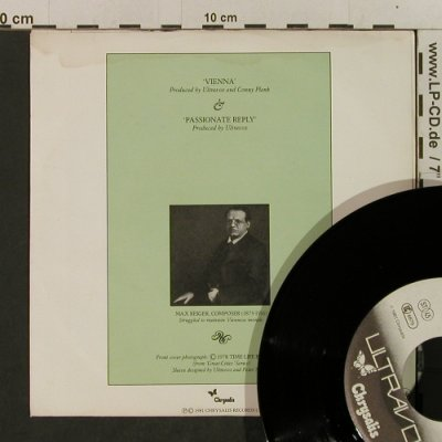 Ultravox: Vienna / Passionate Reply, m-/vg+, Chrysalis(102 905-100), D, 1981 - 7inch - T2398 - 3,00 Euro