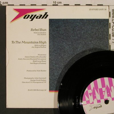 Toyah: Rebel Run / To The Mountains High, Safari(SAFE 56), UK, 1983 - 7inch - T2404 - 4,00 Euro