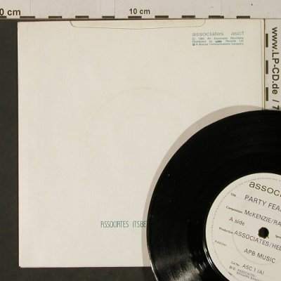Associates: Party Fears Two/It's Better ThisWay, WEA(ASC 1), UK, 1982 - 7inch - T2482 - 3,00 Euro