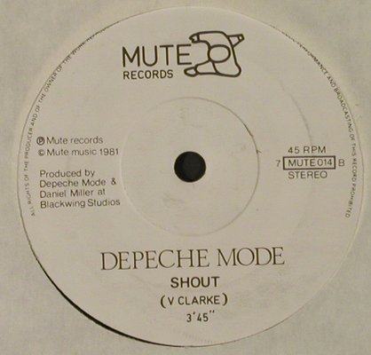Depeche Mode: New Life / Shout, LC, vg+/m-, Mute(MUTE 014), UK, 1981 - 7inch - T2514 - 3,00 Euro