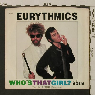 Eurythmics: Who's That Girl? / Aqua, m-/vg+, RCA(PB-13800), US, 1983 - 7inch - T2589 - 2,00 Euro