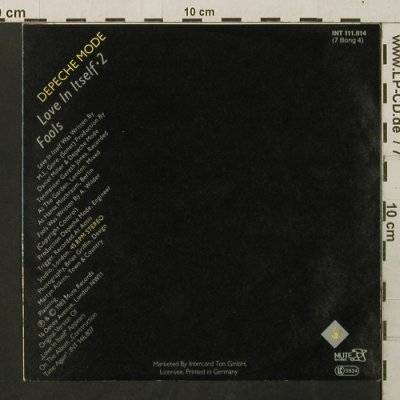 Depeche Mode: Love In Itself 2 / Fools, Mute(INT 111.814), D, 1983 - 7inch - T2809 - 4,00 Euro