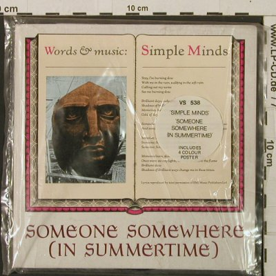 Simple Minds: Someone Somewhere (In Summertime), Virgin(VS 538), UK,vg+/m-, 1982 - 7inch - T2814 - 5,00 Euro