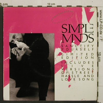 "Simple Minds: Sanctify Yourself + 3, m-/vg+, Virgin, Foc(SMP 1), UK, 1986 - 7""*2 - T2933 - 4,00 Euro"