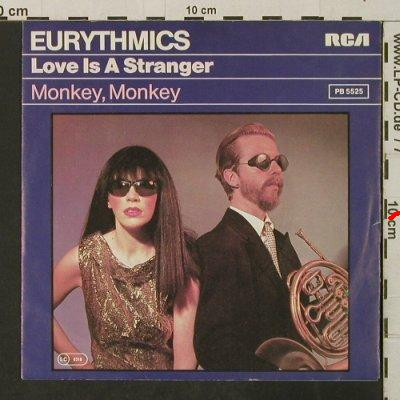 Eurythmics: Love Is A Stranger / Monkey, Monkey, RCA(PB 5525), D, m-/vg+, 1982 - 7inch - T3201 - 2,00 Euro