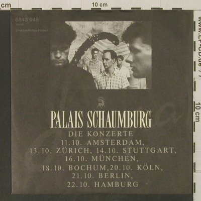 Palais Schaumburg: Die Konzerte, Promo, on sided, Phonogram(6843 049), D, 1982 - 7inch - T3276 - 10,00 Euro