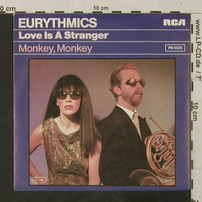 Eurythmics: Love Is A Stranger / Monkey, Monkey, RCA(PB 5525), D, 1982 - 7inch - T3538 - 2,50 Euro