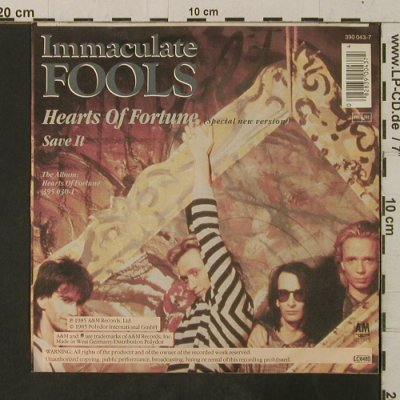 Immaculate Fools: Save it/Hearts of Fortune,new vers., AM(390 043-7), D, 1985 - 7inch - T3576 - 2,00 Euro