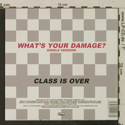 Test Icicles: What's your damage/Class is over, Domino(RUG217), UK, 2006 - 7inch - T3749 - 4,00 Euro