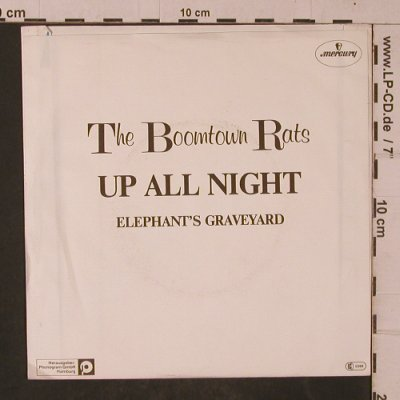 Boomtown Rats: Up All Night / Elephant's Graveyard, Mercury(6059 433), D, 1981 - 7inch - T4686 - 3,00 Euro