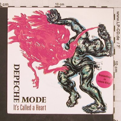 Depeche Mode: It's Called A Heart, red vinyl, Mute - 7 Bong 9(INT 111.831), D, 1985 - 7inch - T5109 - 7,50 Euro