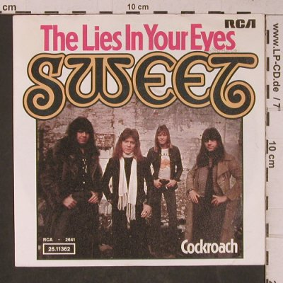 Sweet: The Lies In Your Eyes, vg+/m-, RCA(26.11362), D, 1976 - 7inch - T5330 - 3,00 Euro