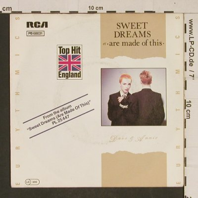 Eurythmics: Sweet Dreams / I Could Give You, RCA(PB 68031), D, 1982 - 7inch - T628 - 2,50 Euro