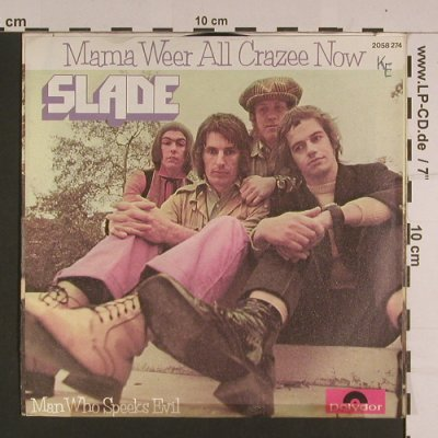 Slade: Mama Weer All Crazee Now, vg+/vg+, Polydor(2058 274), D, Ri, toc, 1972 - 7inch - S7717 - 2,00 Euro
