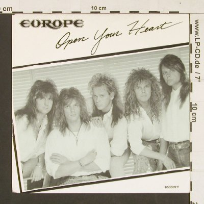 Europe: Open your Heart, Epic(EPC 653097 7), NL, 1988 - 7inch - S9321 - 2,50 Euro
