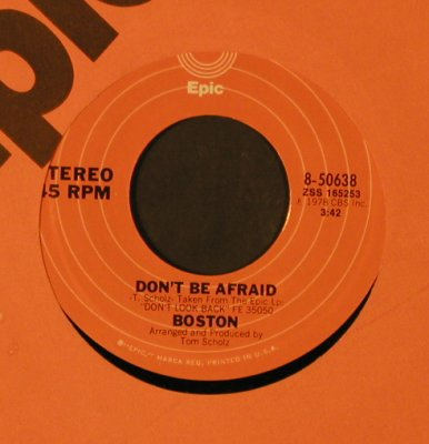 Boston: A Man I'll Never Be/Don't Be Afraid, Epic/Promo-stol(8-50638), US, FLC, 1978 - 7inch - T2258 - 3,00 Euro