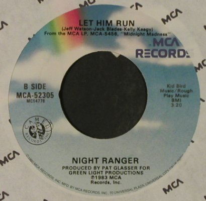 Night Ranger: Rock In America / Let Him Run, FLC, MCA / Promo stol(52305), US, 1983 - 7inch - T2322 - 2,50 Euro