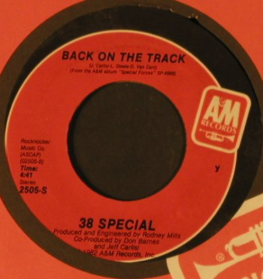 38 Special: Chain Lightnin' / Back On The Track, AM(2505-S), US, FLC, 1982 - 7inch - T2325 - 3,00 Euro