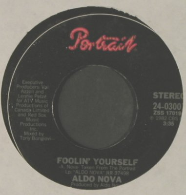 Nova,Aldo: Foolin' Yourself / See The Light, Portrait(24-03001), US, FLC, 1982 - 7inch - T2327 - 4,00 Euro