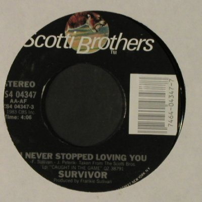 Survivor: I Never Stopped Loving You, LC, ScottiBros /Promo-stol(ZS4 04347), US, 1983 - 7inch - T2329 - 3,00 Euro