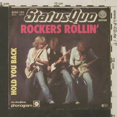 Status Quo: Rocker's Rollin' / Hold You Back, Vertigo(6059 193), D, 1977 - 7inch - T2904 - 2,50 Euro